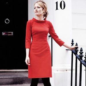 Boden Red Pepper Zoe Ponte Dress Size 8R